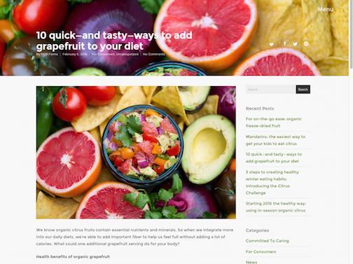 Grapefruit blog