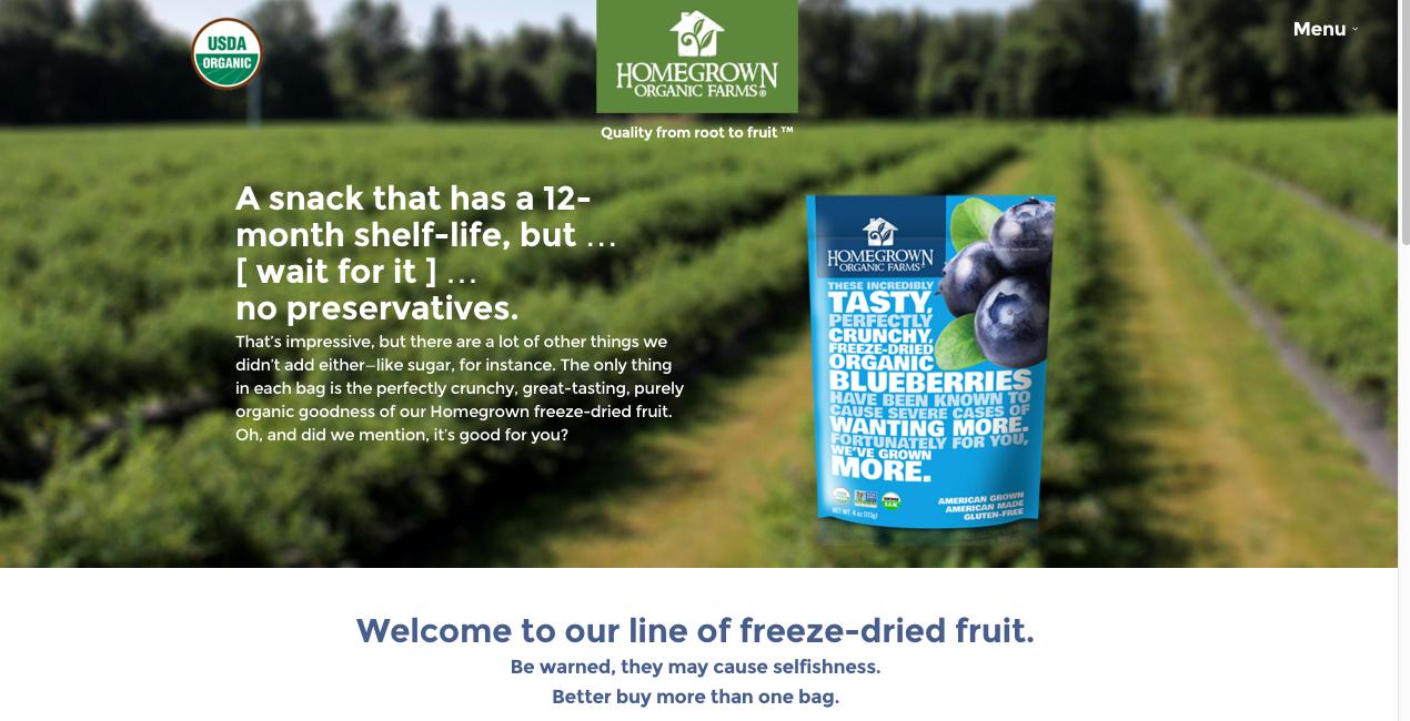 freeze-dried fruit